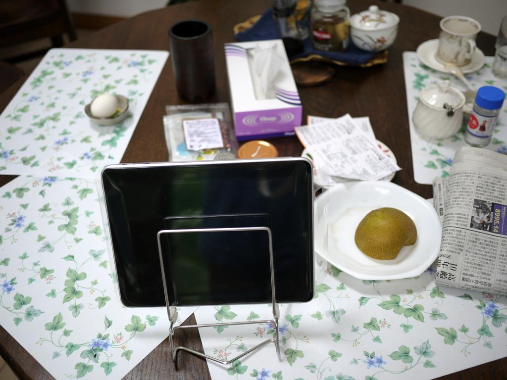 iPad on the table
